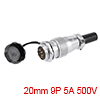 Aviation Connector, 20mm 9P 5A 500V WS20-9 Waterpr...