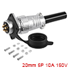 Aviation Connector, 20mm 5P 10A 150V P20-5 Waterpr...