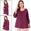 Women Plus Size Crochet Panel Kimono Raglan Sleeve...