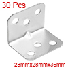 30pcs 28mmx28mmx36mm Stainless Steel Corner Brace ...