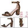 Women Open Toe Chunky High Heel Ankle Strap Sandal...