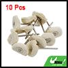 10pcs White 25mm Dia Wire Wheel Brush Polishing Cl...