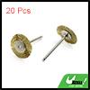 20pcs Gold Tone 25mm Dia Steel Wire Wheel Brush Po...