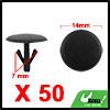 50pcs 7mm Black Plastic Rivets Carpet Panel Retain...