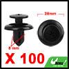 100Pcs 8mm Black Plastic Rivets Push Type Panel Re...