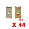 44Pcs Brass Tone U Type Metal Rivets Door Trim Fas...