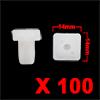 100Pcs 10 x 8mm Black Plastic Rivets Fender Panel ...