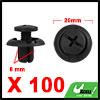 100Pcs 8mm Black Plastic Rivets Push Type Trunk Re...