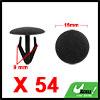 54pcs 9mm Black Plastic Rivets Carpet Panel Retain...