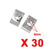 30Pcs Silver Tone U Type Metal Rivets Door Trim Fa...
