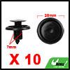 10Pcs 7mm Black Plastic Rivets Push Type Panel Ret...