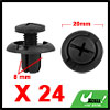 24Pcs 8mm Black Plastic Rivets Push Type Trunk Ret...