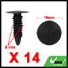 14Pcs 8mm Black Plastic Rivets Carpet Panel Retain...