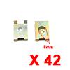 42Pcs Brass Tone U Type Metal Rivets Door Trim Fas...