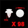 98Pcs 9mm White Plastic Rivets Fender Trunk Retain...