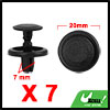 7Pcs 7mm Black Plastic Rivets Push Type Fender Ret...