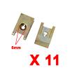 11Pcs Brass Tone U Type Metal Rivets Door Trim Fas...