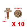 10Pcs 6mm Brass Tone Metal Rivets Fender Trunk Ret...