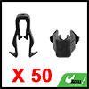 50Pcs Black Plastic Rivets Door Trim Fastener Reta...