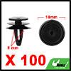 100Pcs 8mm Black Plastic Rivets Carpet Trunk Retai...