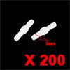 200pcs Plastic White Straight Hose Pipe Tube Air W...