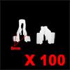 100Pcs White Plastic Rivets Door Trim Fastener Ret...