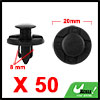 50Pcs 8mm Black Plastic Rivets Push Type Fender Re...