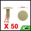 50Pcs 6mm Khaki Plastic Rivets Fender Trunk Retain...