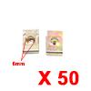 50Pcs Brass Tone U Type Metal Rivets Door Trim Fas...