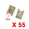 55Pcs Brass Tone U Type Metal Rivets Door Trim Fas...