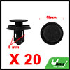 20Pcs 8mm Black Plastic Rivets Push Type Trunk Ret...