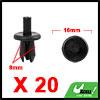20Pcs 8mm Black Plastic Rivets Push Type Panel Ret...
