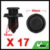 17Pcs 10mm Black Plastic Rivets Push Type Trunk Re...