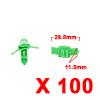 100Pcs 10 x 7mm Green Plastic Rivets Fender Trunk ...
