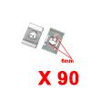 90Pcs Silver Tone U Type Metal Rivets Door Trim Fa...