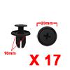 17Pcs 10mm Black Plastic Rivets Push Type Panel Re...