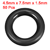 O-Rings Nitrile Rubber 4.5mm x 7.5mm x 1.5mm Seal ...