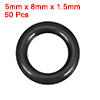 O-Rings Nitrile Rubber 5mm x 8mm x 1.5mm Seal Ring...