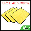 3pcs Yellow Gray Coral Velvet Auto Car Cleaning Wa...