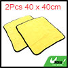 2pcs Yellow Gray Coral Velvet Auto Car Cleaning Wa...