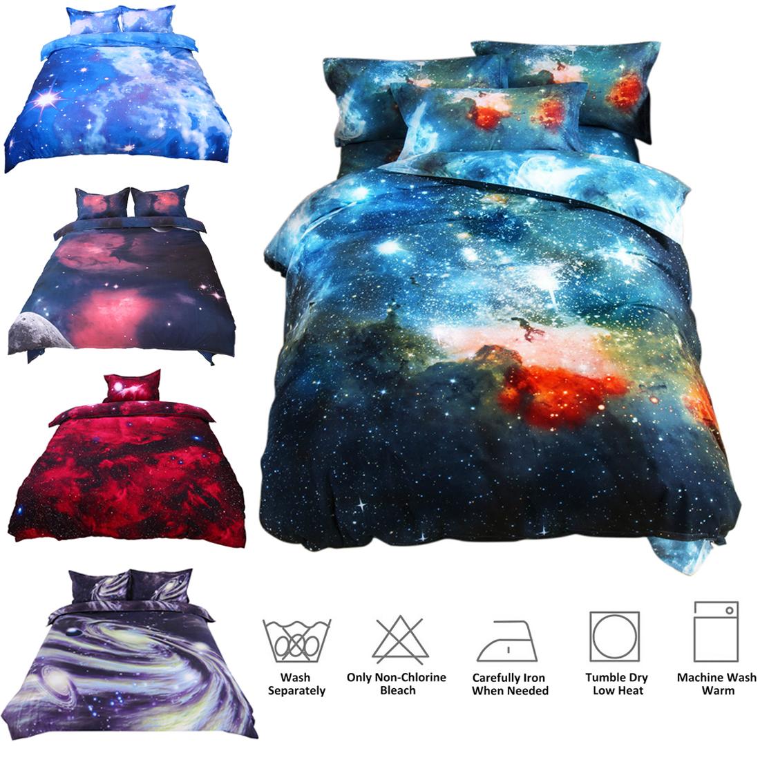 3d Print Sky Stars Universe Night Duvet Cover Set Pillow Sha