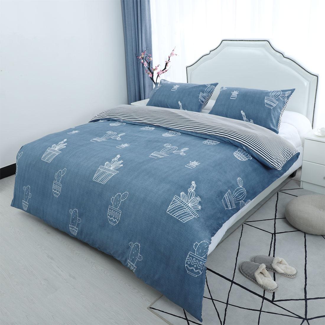 Floral-Bedding-Set-Duvet-Cover-Set-Comforter-Cover-Single-Full-Queen-King-4-Size thumbnail 16