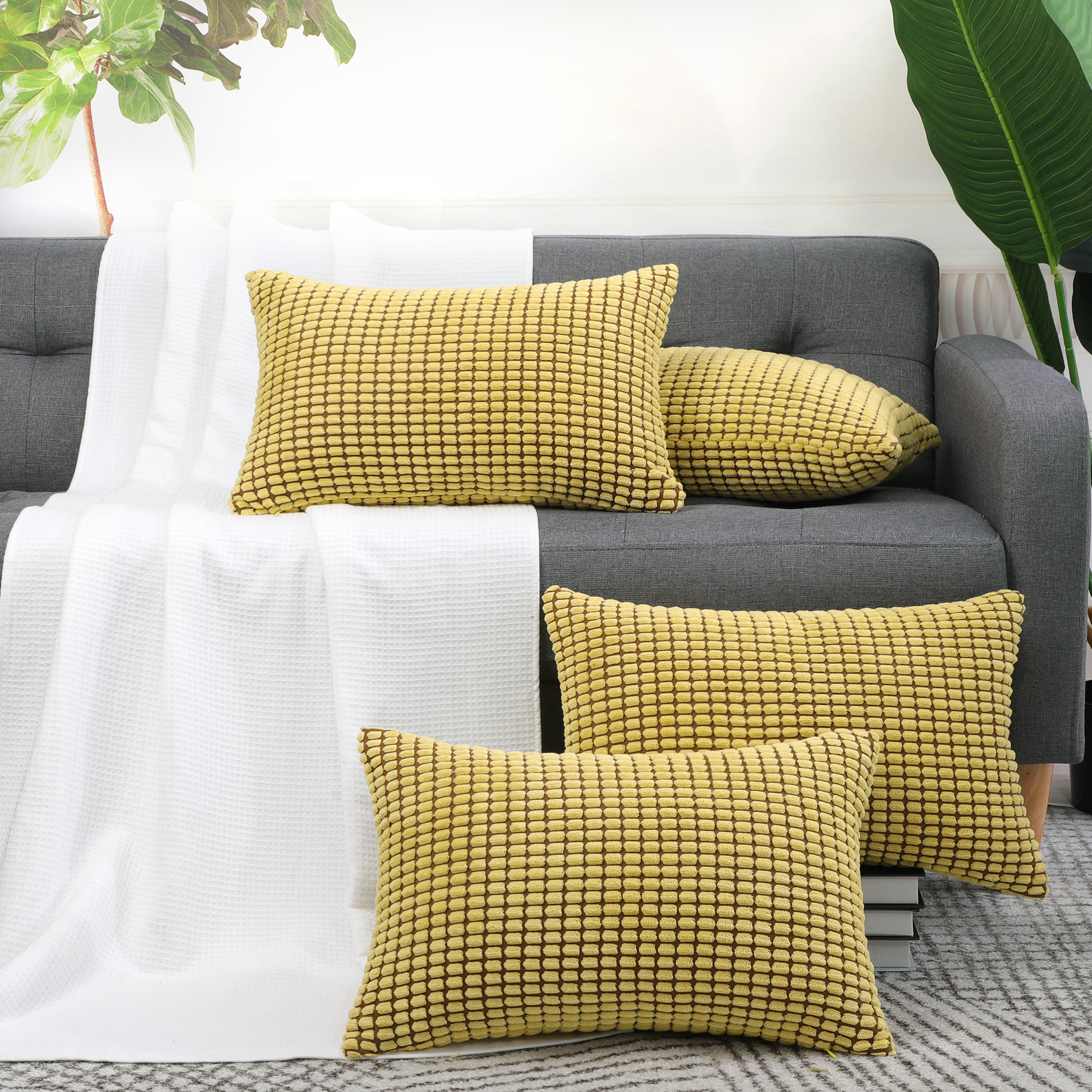 Rectangle-Pillow-Cases-Throw-Pillow-Cover-Christmas-Gift-Cushion-Cover-12-034-x-18-034 thumbnail 23