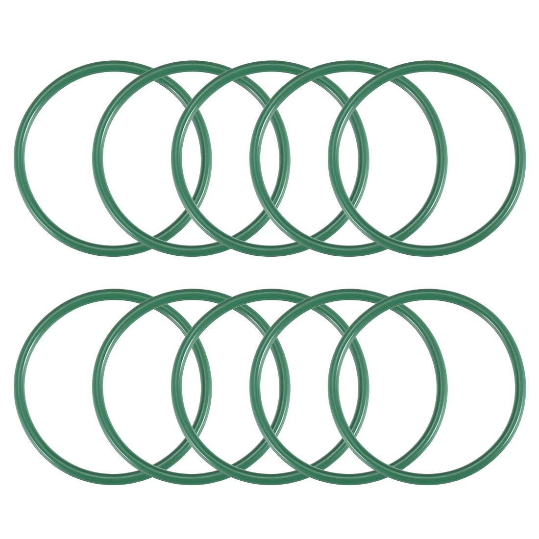 10 Stück Fluorkautschuk O-Ringe  19-37mm Innendurchm 2mm breit Dichtung grün