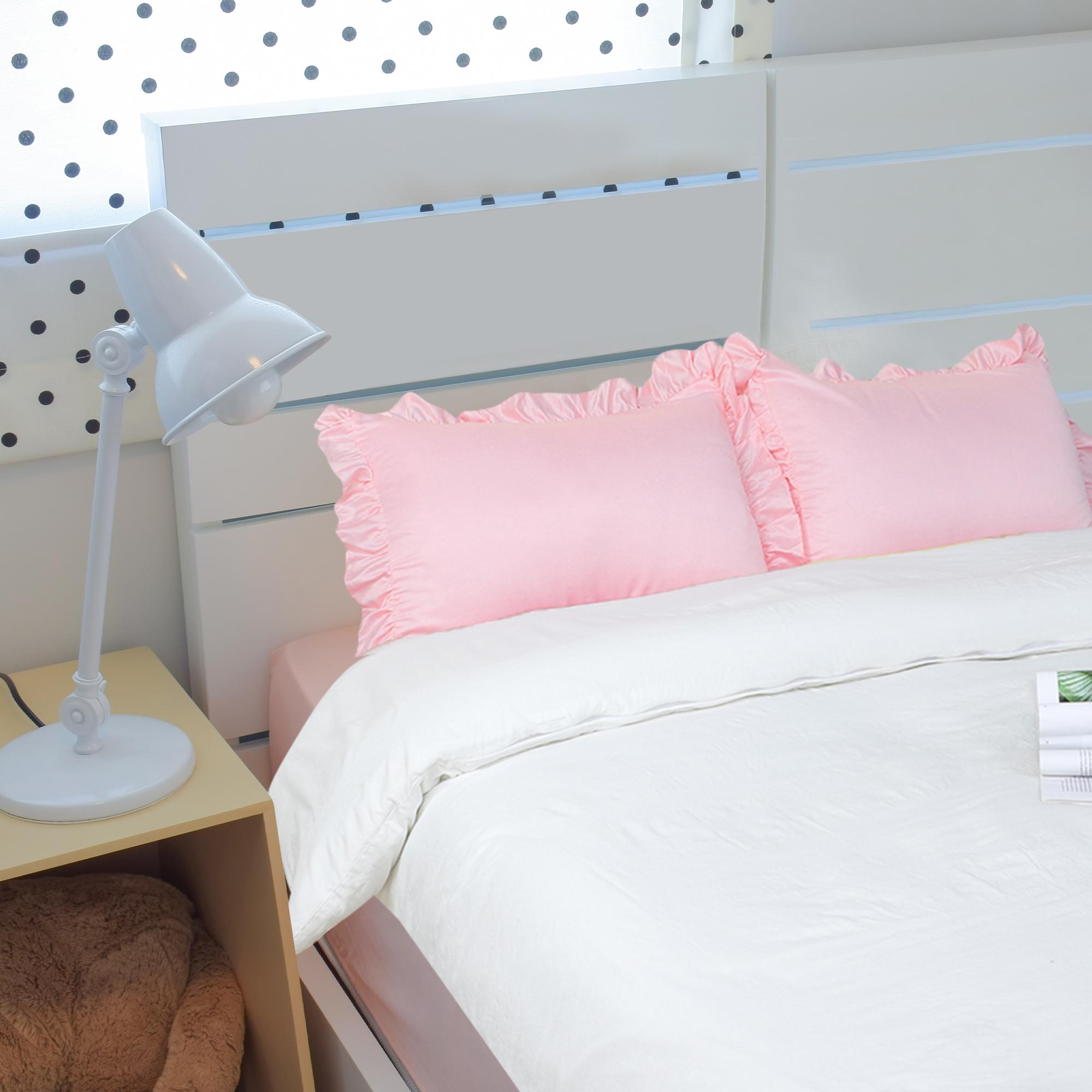 Almohadas-de-saten-de-seda-de-Funda-de-Almohada-Fundas-de-almohada-Oxford-con-volantes-Funda-de miniatura 20