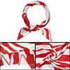 50cm zebra stripe square neck scarf scar...