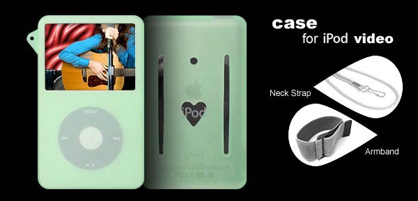 Skin (Green) + Armband for iPod Video 5G