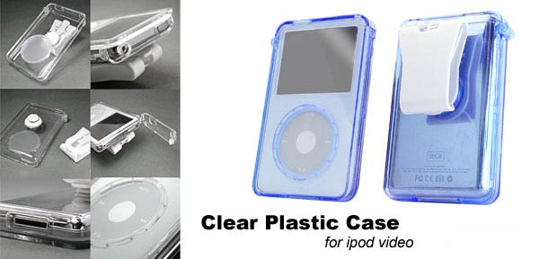 Plastic Clear Case 30G Blue for iPod Video