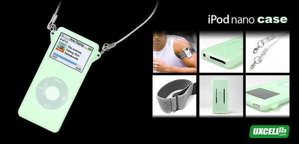 Silicon Skin (Green) for iPod Nano 1G