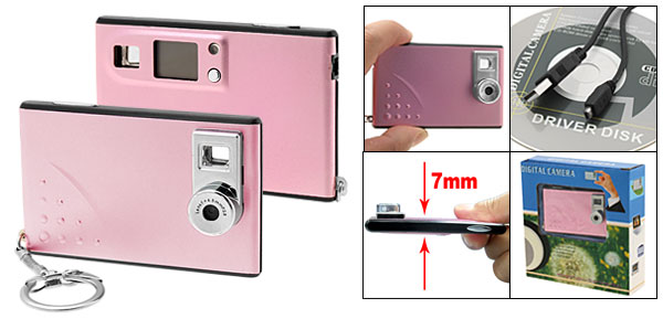 Mini Slim Keychain Digital PC Camera 300K Pixels Pink